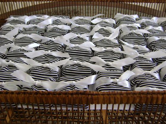 fudges com tecido listado