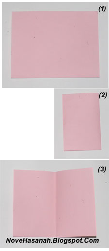 cara dan langkah-langkah disertai gambar untuk melipat kertas membentuk origami perahu layar sederhana untuk anak SD 1