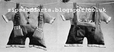 1940's Sewing - Prims Clothespin Caddy Pattern