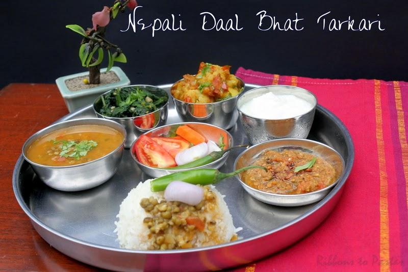 Ribbon's to Pasta's: Nepali Daal Bhat Tarkari