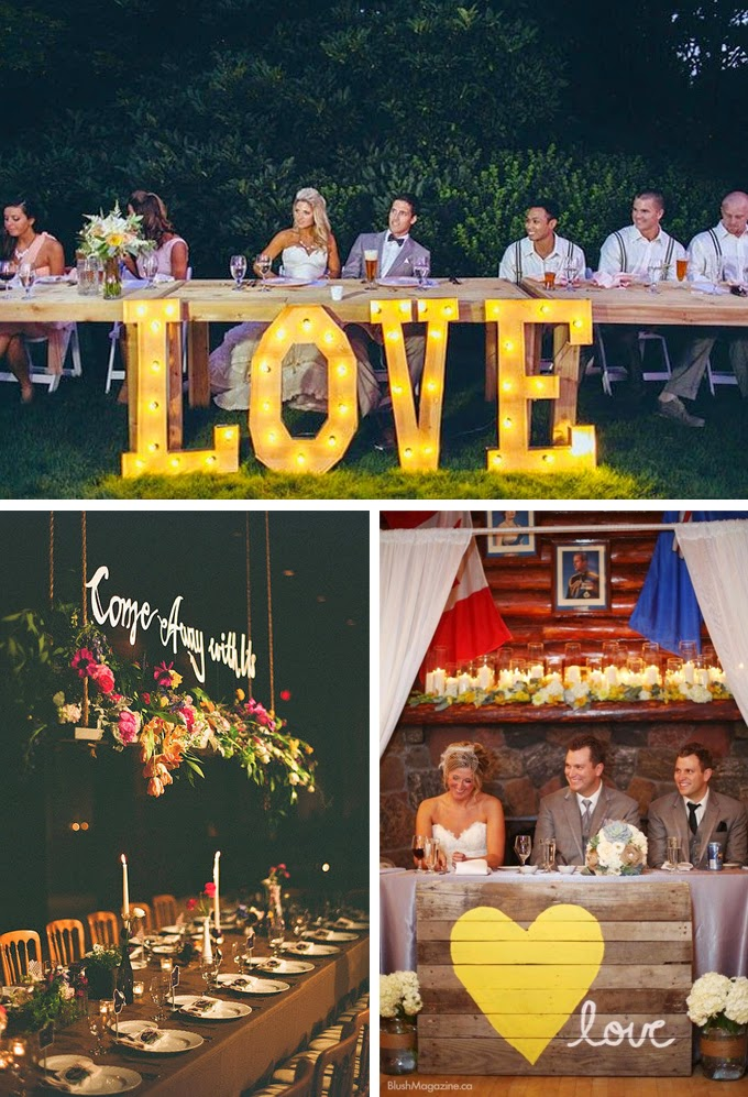 Signage Head Table Wedding Decorations