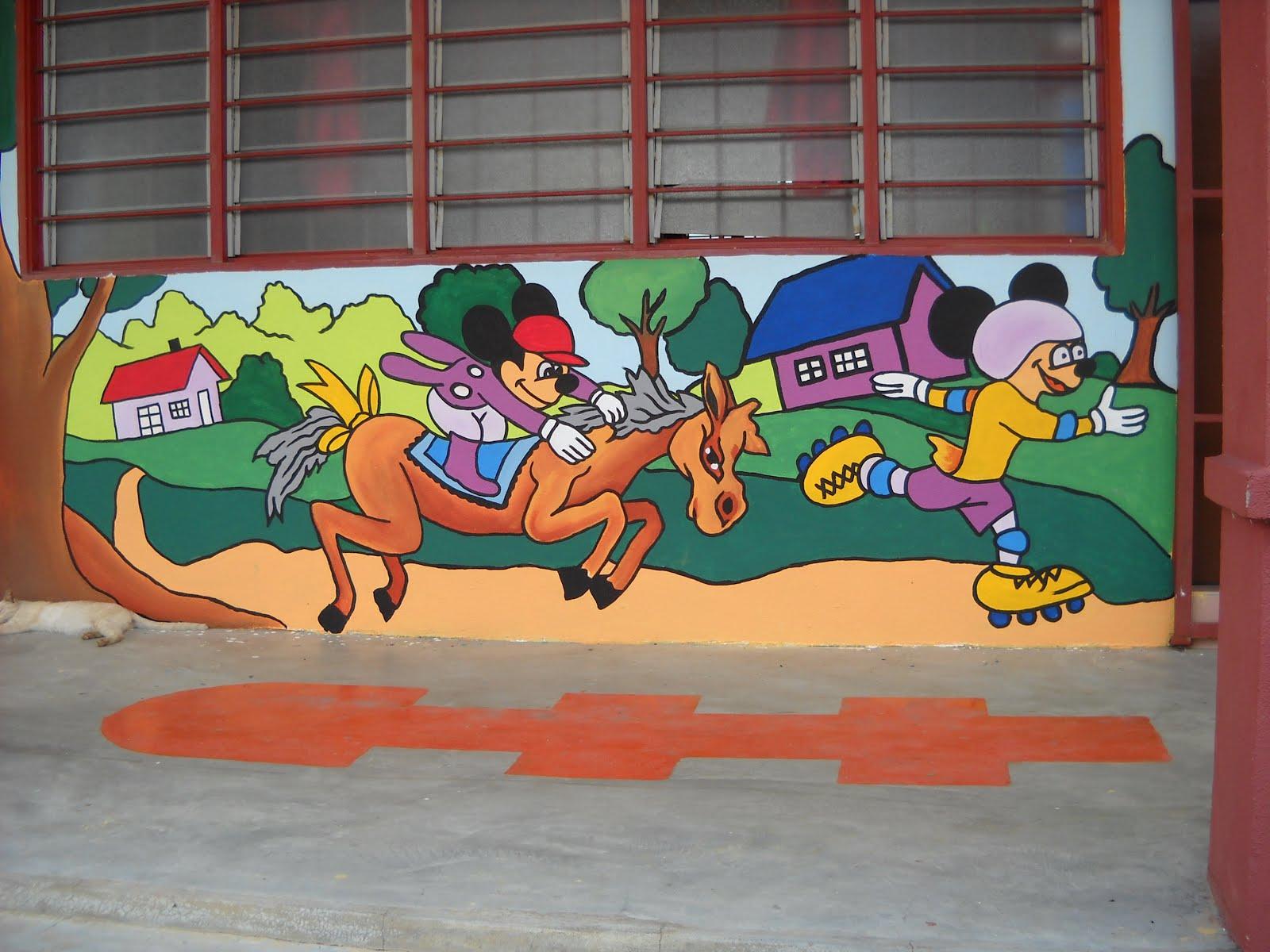pelukis mural shah alam kartun kanak kanak