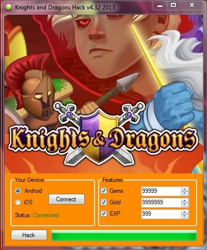 Knights and Dragons Hack Features
