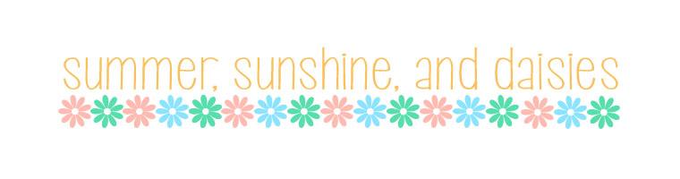 summer, sunshine, and daisies