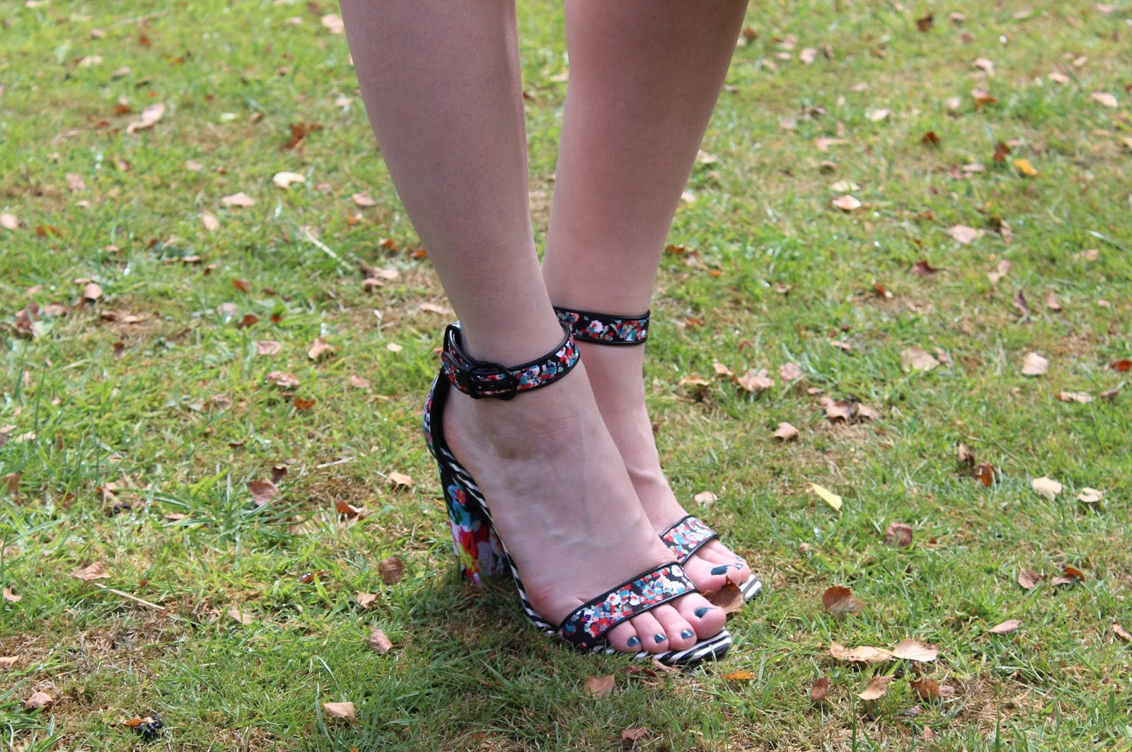 Close up of ALDO Cadaudda Printed Sandals