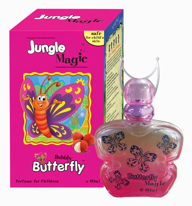 Pefumes For Kids by Jungle Magic - Made Of Essential Oils and Deratologically Tested - Bubbly Butterfly