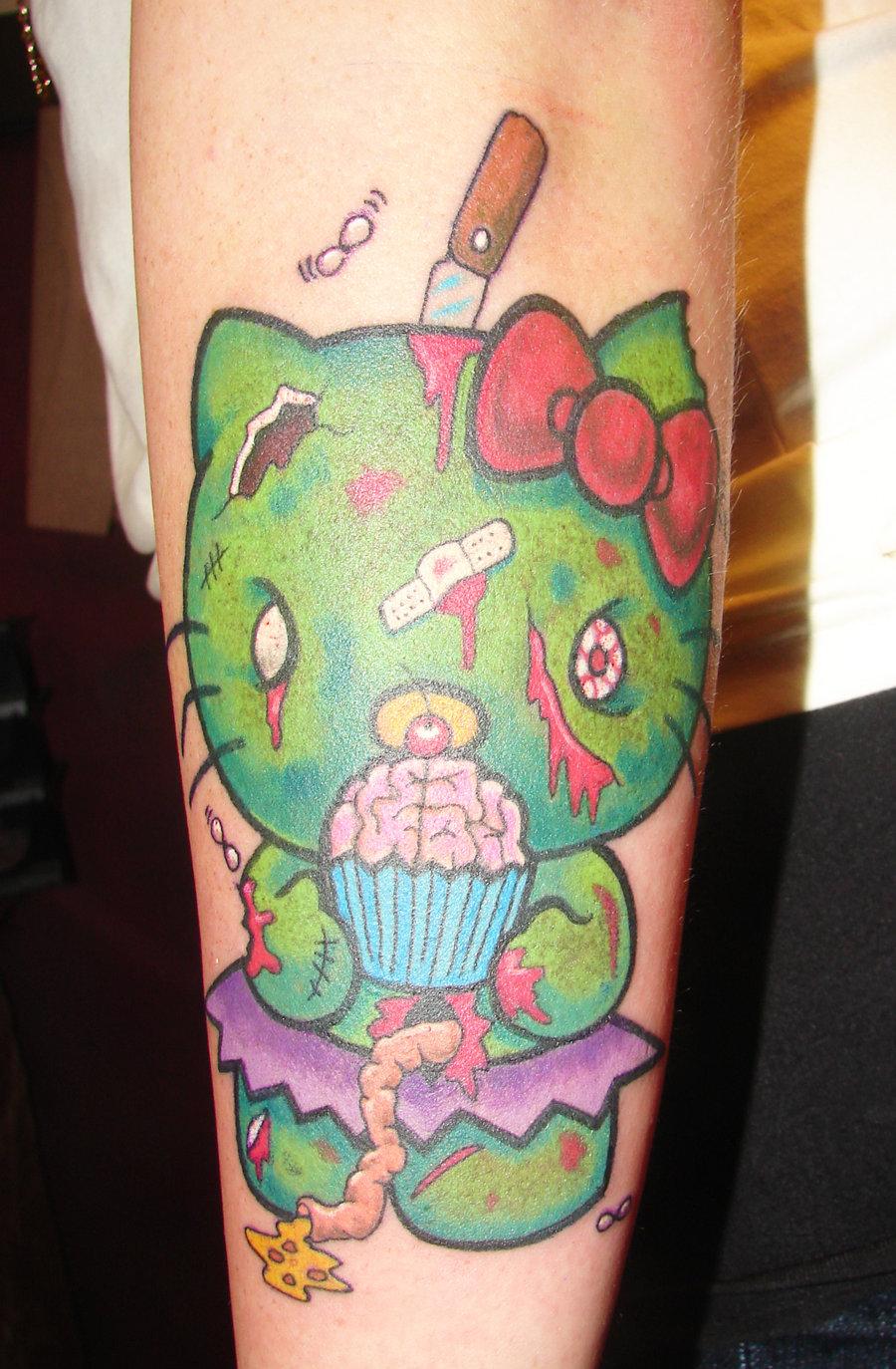 hello-kitty-zombie-cupcake jpg  Evil Hello Kitty Tattoo