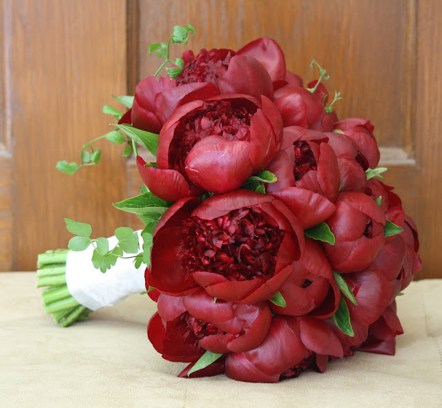 Burgundy Peony Wedding Bride's Bouquet - Franklin Plaza - Splendid Stems Event Florals