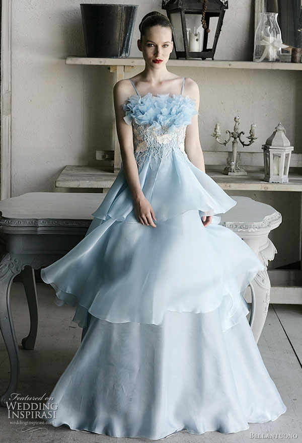 Ice Blue Wedding Dresses Gown