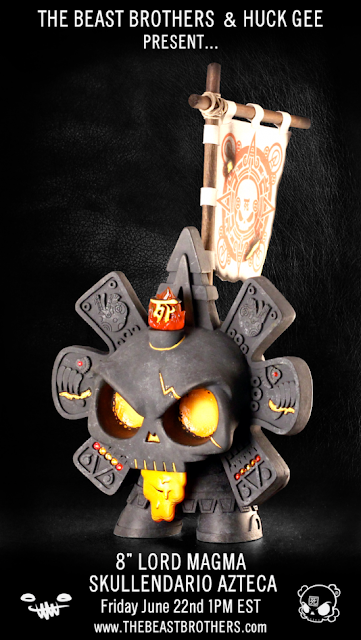 Lord Magma Skullendario Azteca 8 Inch Custom Figure by The Beast Brothers &amp; Huck Gee