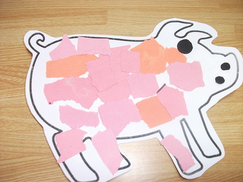 preschool crafts for kids easy pig collage paper craft