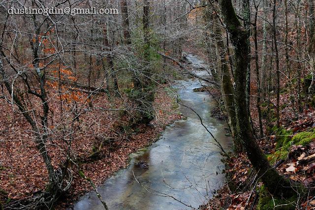 Tennessee creek in winter