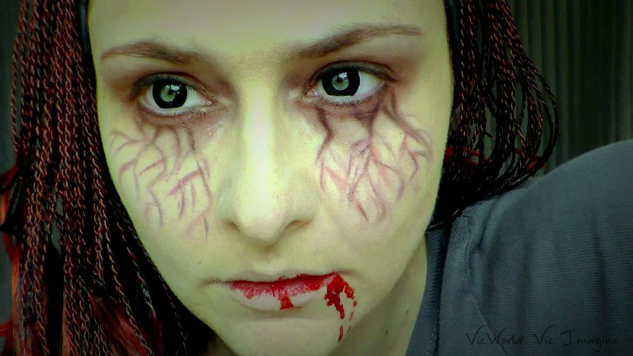 vampiro,rojo,morado,negro,caracterización,sangre