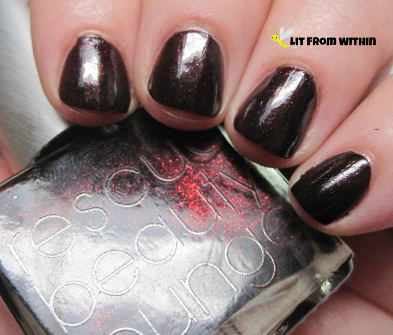 Rescue Beauty Lounge Black Russian - vampy, yet glowy.