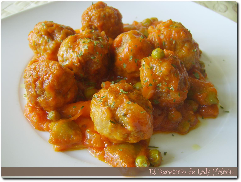 El recetario de lady halcon alb ndigas con verduras en - Albondigas con verduras ...