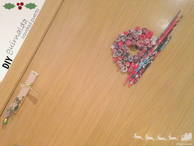 DIY Guirnalda Navidad para la puerta