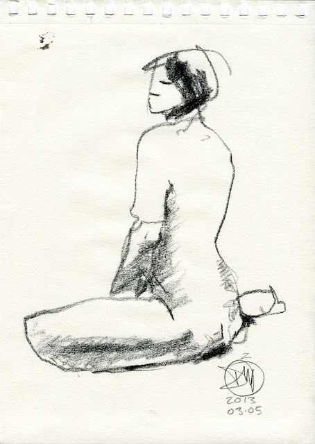 Nude sketch by David Meldrum 20130305