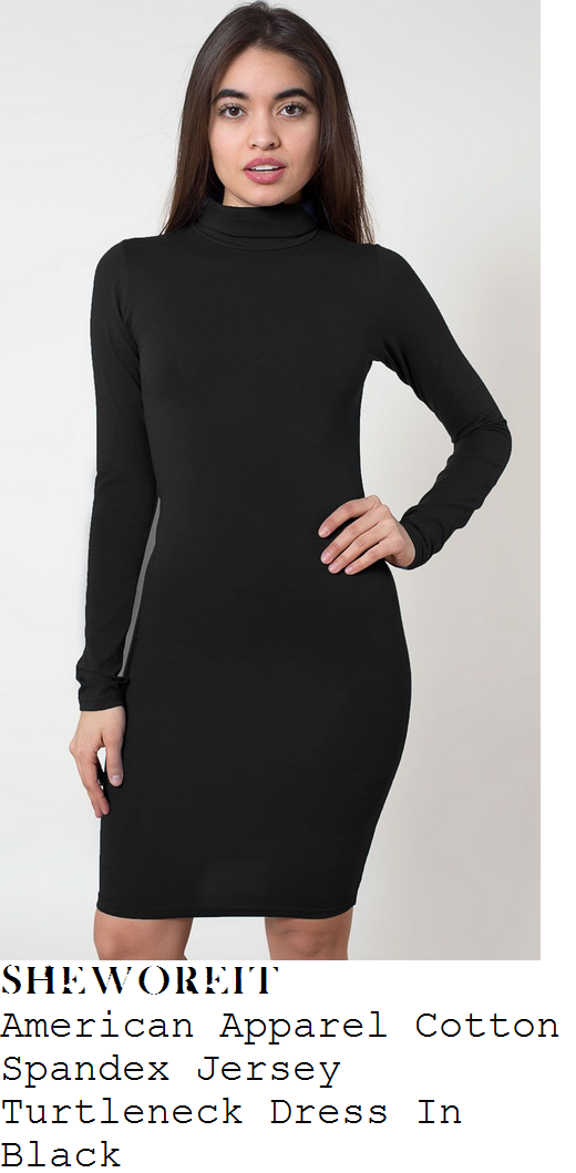 0f3ddfe1109 sheworeit  Kim Kardashian West s American Apparel Black Long ... Turtleneck  Long Sleeve Women s Bodycon Dress. Please give your opinions of the  product  ...