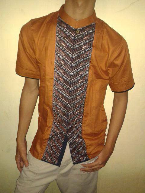 Baju koko trendy motif garis batik