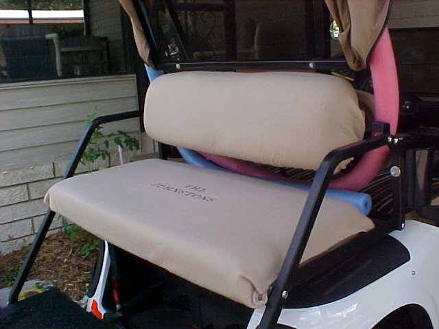 Carmy Sew: Personalized Fleece Golf Cart Seat Covers on golf cart heater cup holder, golf cart can holder, golf cart by alphard duo, golf cart cocktail,
