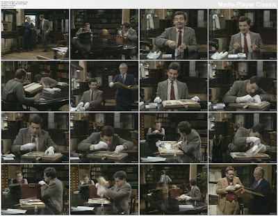 mr bean,series,the library