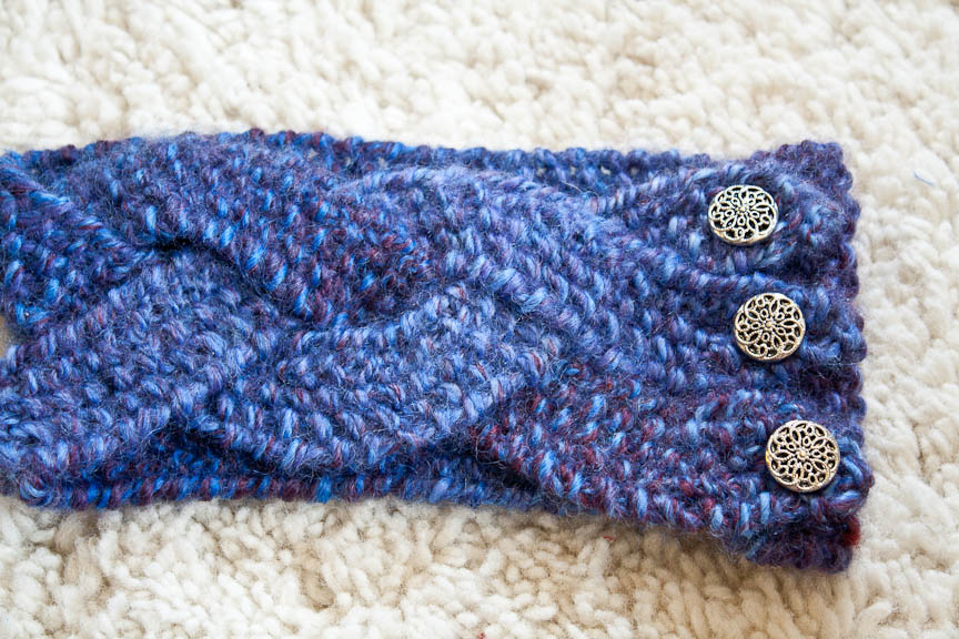 Knit Nat: Chunky Braided Winter Headband