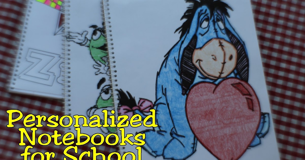 Coloring Book Personalized Notebooks for School   Everyday Parties