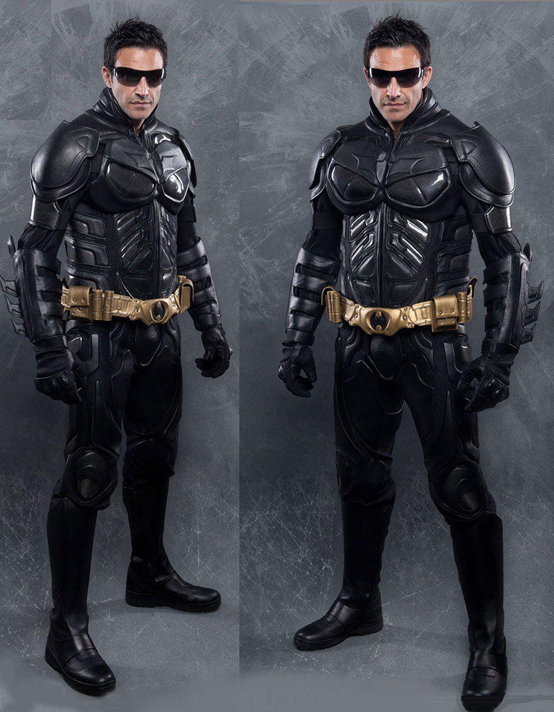 Utility Belt Dark Knight Replica Leather amp Kevlar Motorcycle Suit