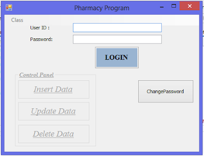 Pharmacy Project Main Form