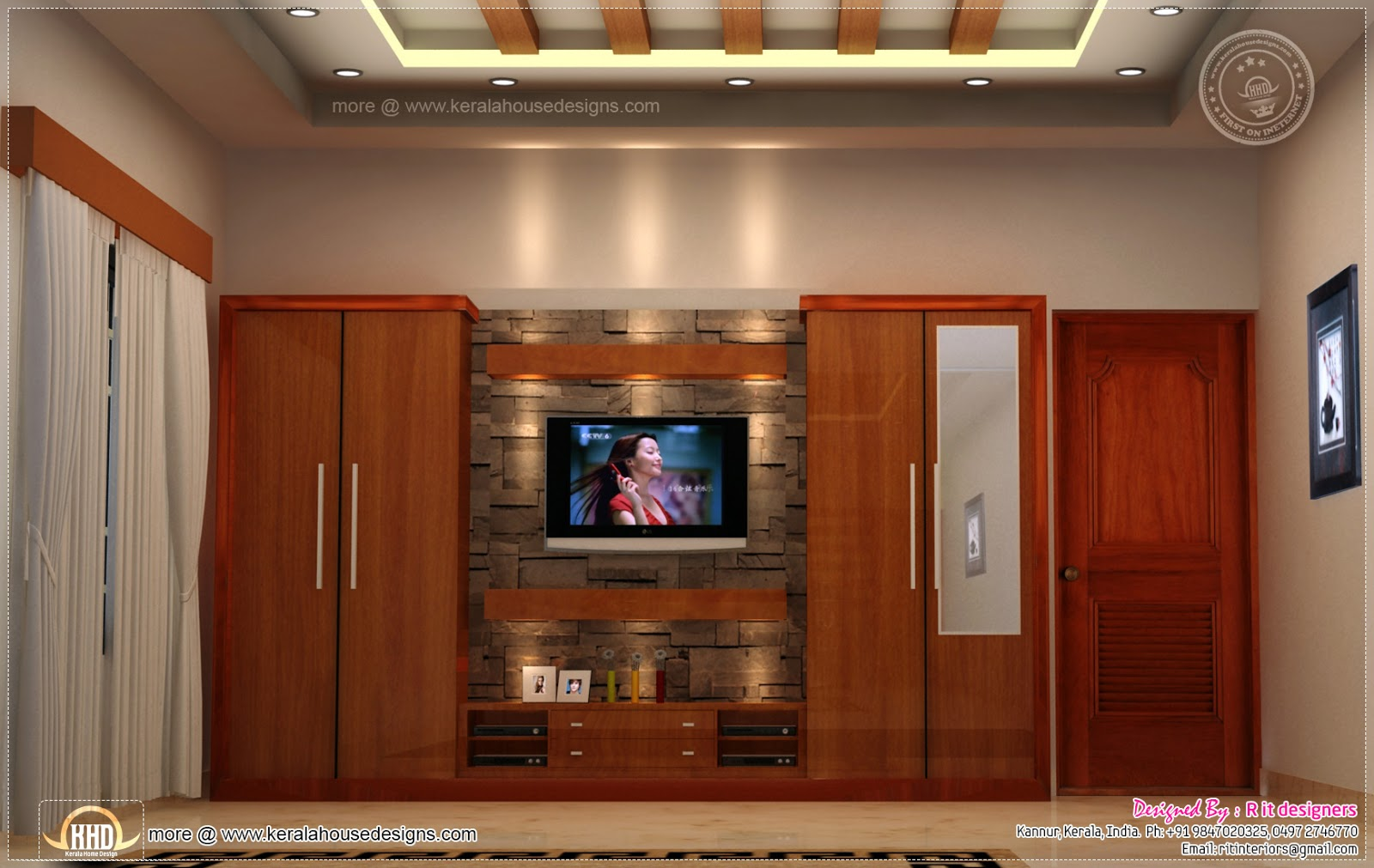 Home interior designs by Rit designers Kerala home design and