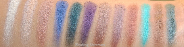 Makeup Revolution London 'Welcome To The Pleasuredome' Eyeshadow Palette swatches