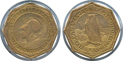 Octagonal Gold Dollars