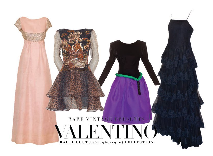 15d7aef682 Selection of vintage Valentino Haute Couture From Rare Vintage  (Left) Pink  Gazar gown