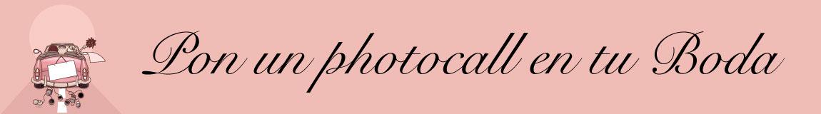 Pon un photocall en tu boda