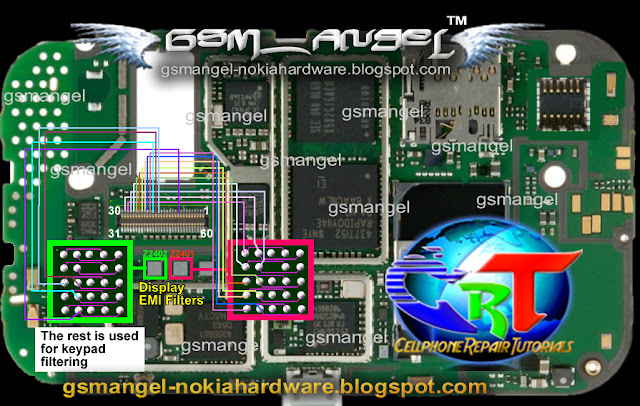 nokia 6760 display IC jumper solution