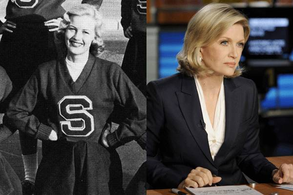 Diane Sawyer — Today she's a respected journalist, but back in the day Diane Sawyer was a cheerleader. Of course, back then cheerleaders were a little more modestly dressed, so it doesn't seem that out of character.