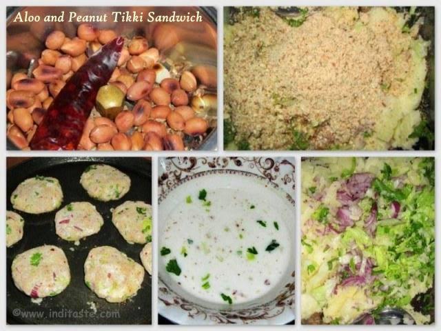 How to make Potato(Aloo) and Peanut Tikki