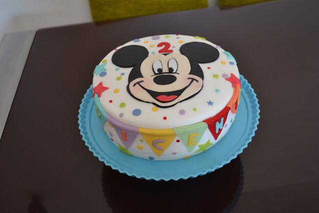 Tarta Mickey Mouse Fondant cumpleaños