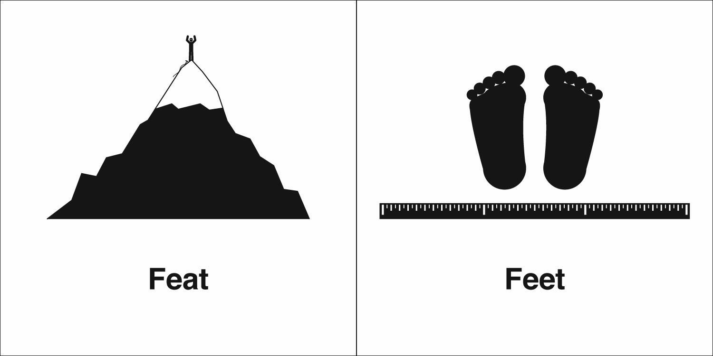Homophones, Weakly: Feat & Feet