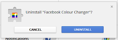 facebook color changer extension uninstall popup window