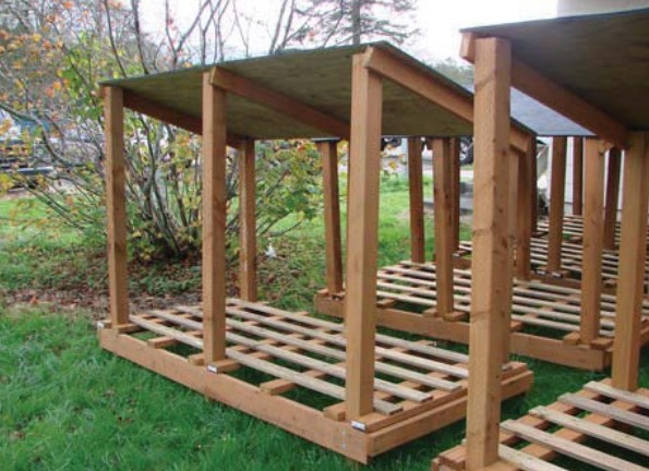how to build a simple wood storage shed