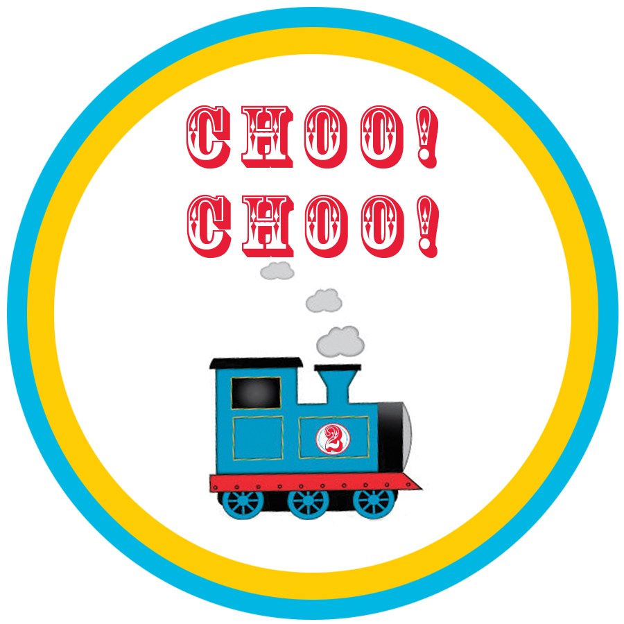 Lively image with free printable thomas the train cup cake toppers