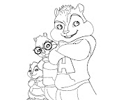 #10 Alvin and the Chipmunks Coloring Page