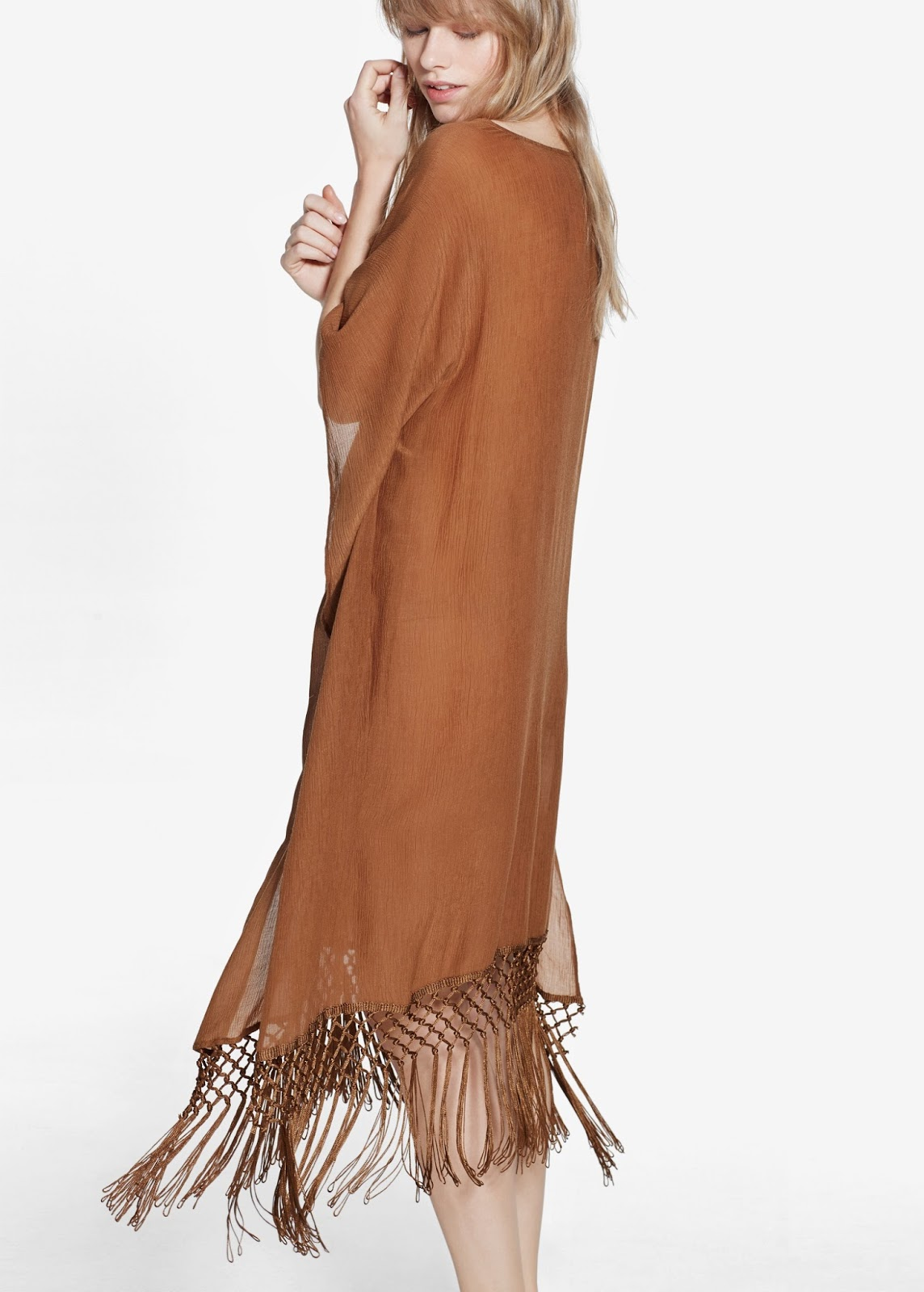 brown tassel dress, mango tassel dress,
