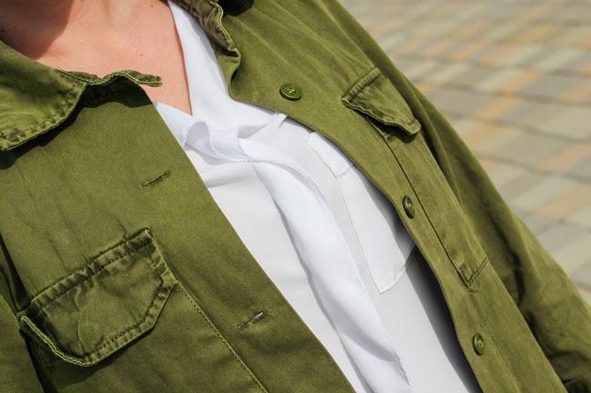 white blouse from Zara