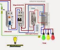 Cconexion electrica de interruptor horario