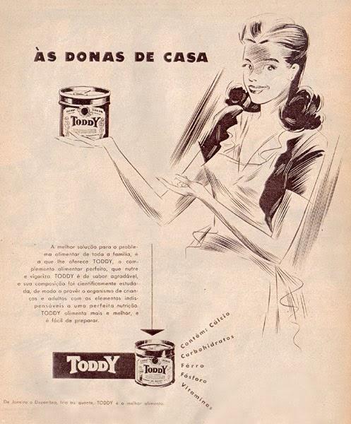 Propaganda antiga Toddy veiculada nos anos 50.