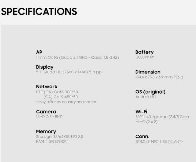 Spesifikasi Samsung; Smartphone; Phablet; www.ririekhayan.com; gadget canggih