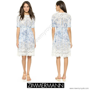 Crown Princess Mette-Marit Style Zimmermann Confetti Scallop Day Dress