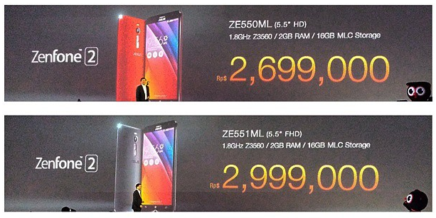 Asus ZenFone 2 ZE550ML vs ZE551ML